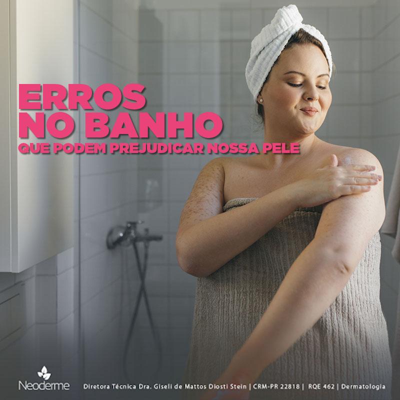 Erros no banho podem comprometer a saúde da pele